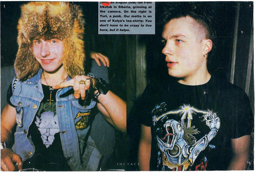 Заметка о металлистах в журнале The Face, 1988.