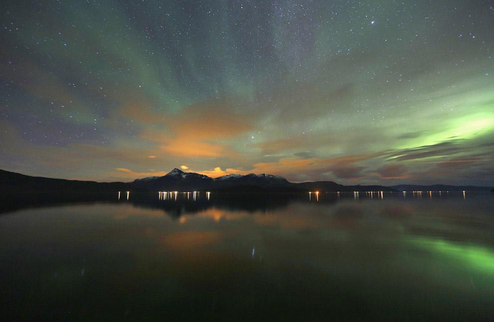 3. Северное сияние в Норвегии, 30 сентября 2014.