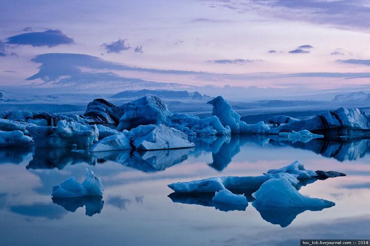 Ледниковая лагуна в Исландии (31 фото)