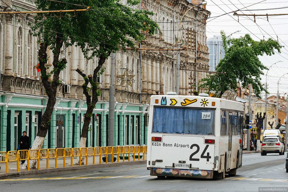 6. В Саратове большая часть автобусного парка — это подержанные Мерседесы из Европы. А троллейб