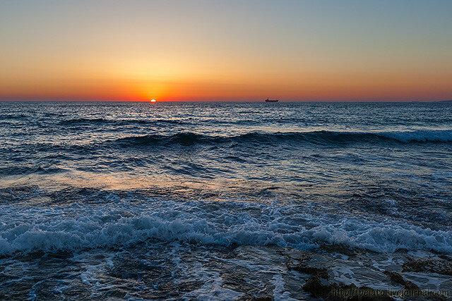 Пафос закат море Кипр