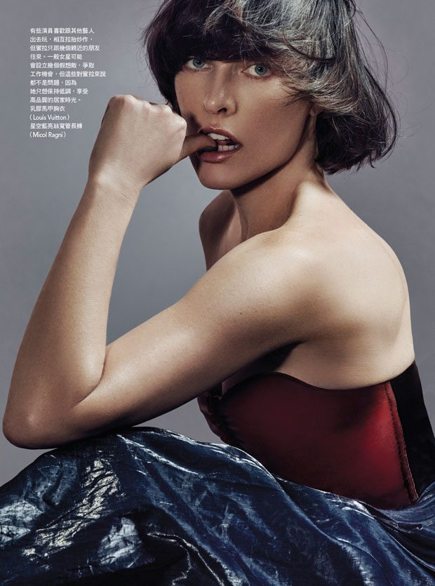 MILLA JOVOVICH TAKES VOGUE TAIWAN COVER STORY BY AN LE