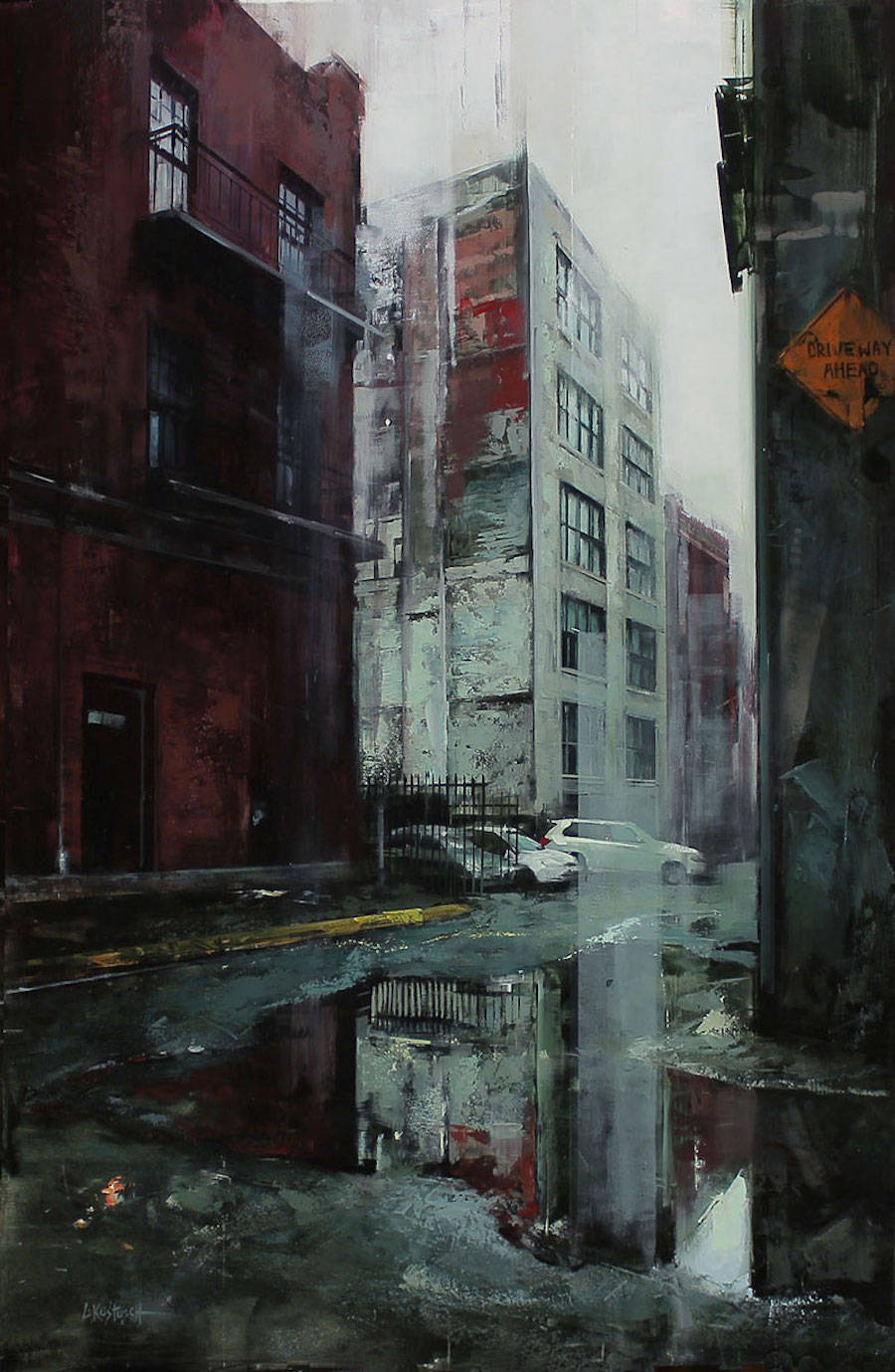 Captivating City Streets Paintings