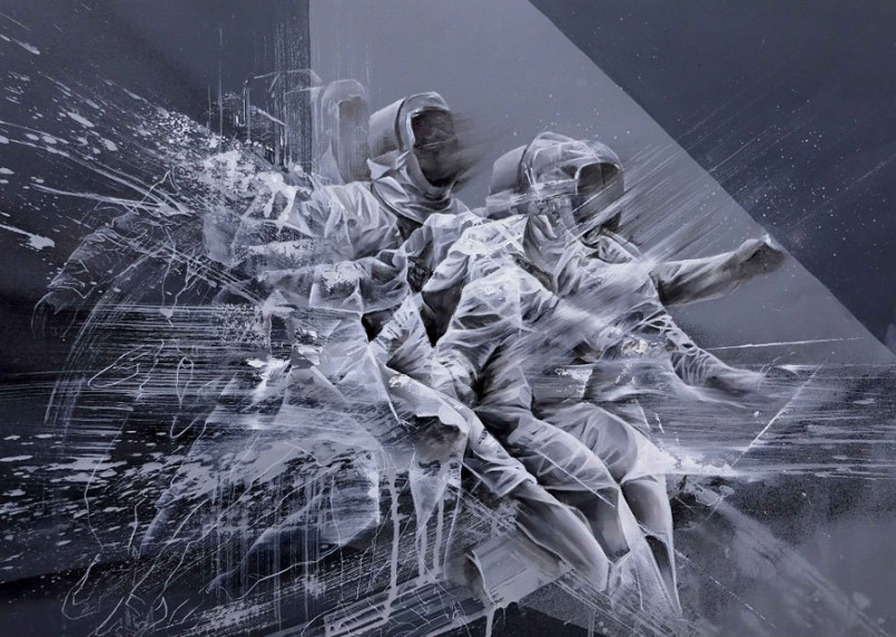 Fencing: Dynamic Paintings by Aaron Li-Hill
