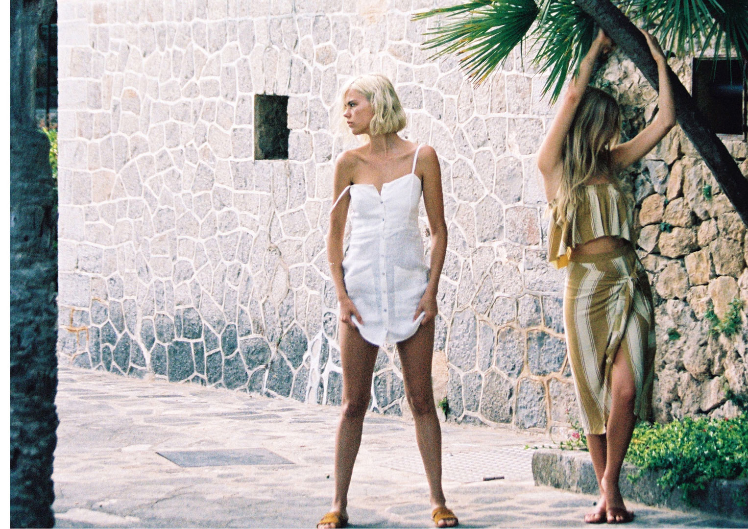 Charlie Newman and Julia Almendra - Faithfull Brand The Holiday spring 2017 premium edition