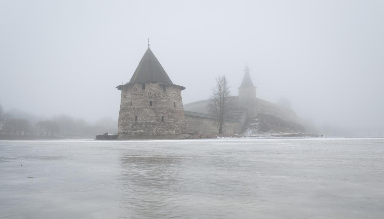 Январский туман.
