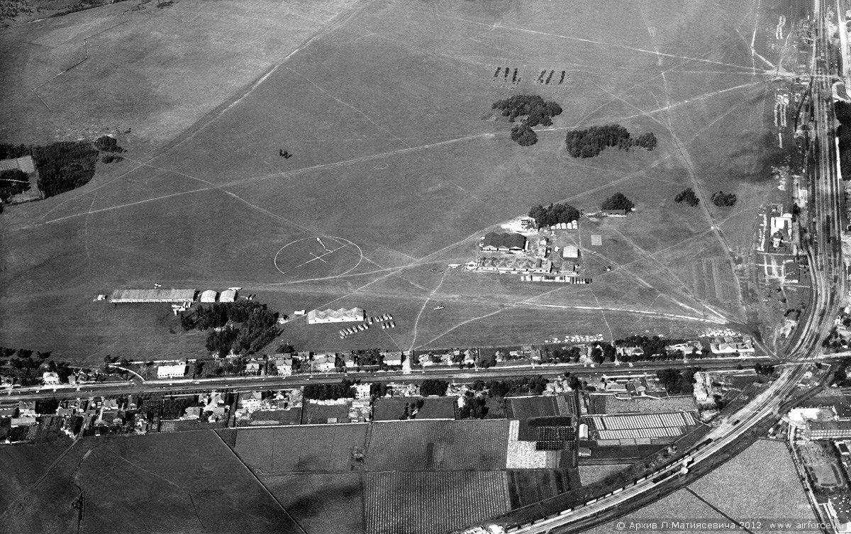 Вид на Летное поле в Гатчине. 1916