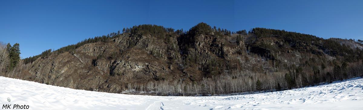 Панорама утёса возле Выгузова