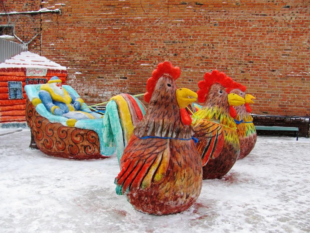 Конкурсы снежных и ледяных фигур прошли в колониях по всей России