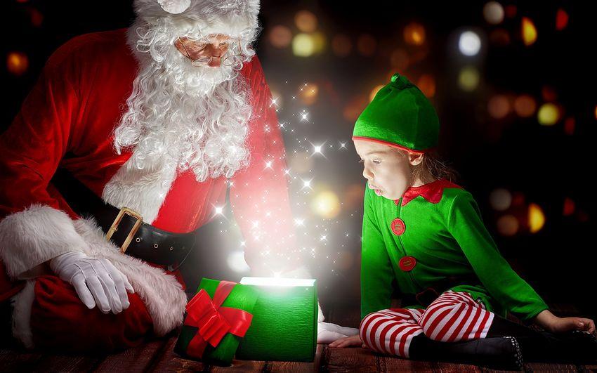 Новый год, праздник, сказка, дети, мальчик, подарки от деда мороза