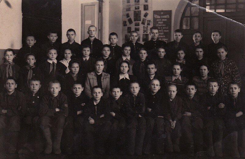 Славгород, школьная фотография 1950-е годы.