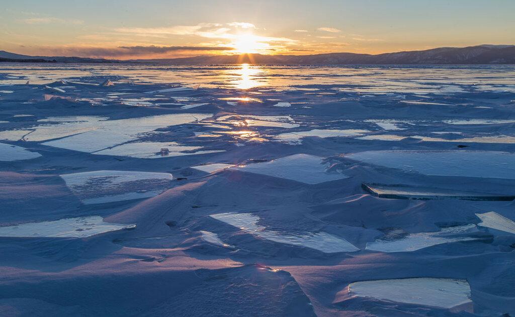 Байкал. Закат в Малом море
