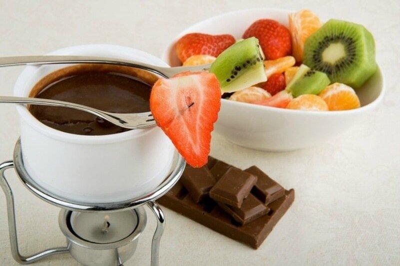 Шоколадное фондю с фруктами   готовим дома!