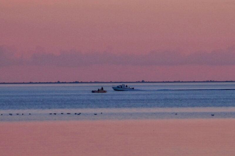 розовый вечер рыбаков