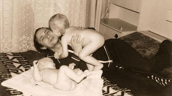 Владимир Путин с дочерьми.