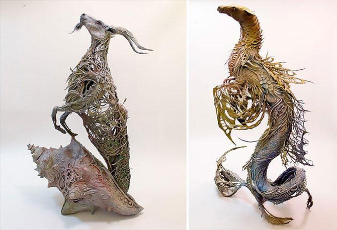 Удивительные и необычные скульптуры от Эллен Джуетт (18 фото)