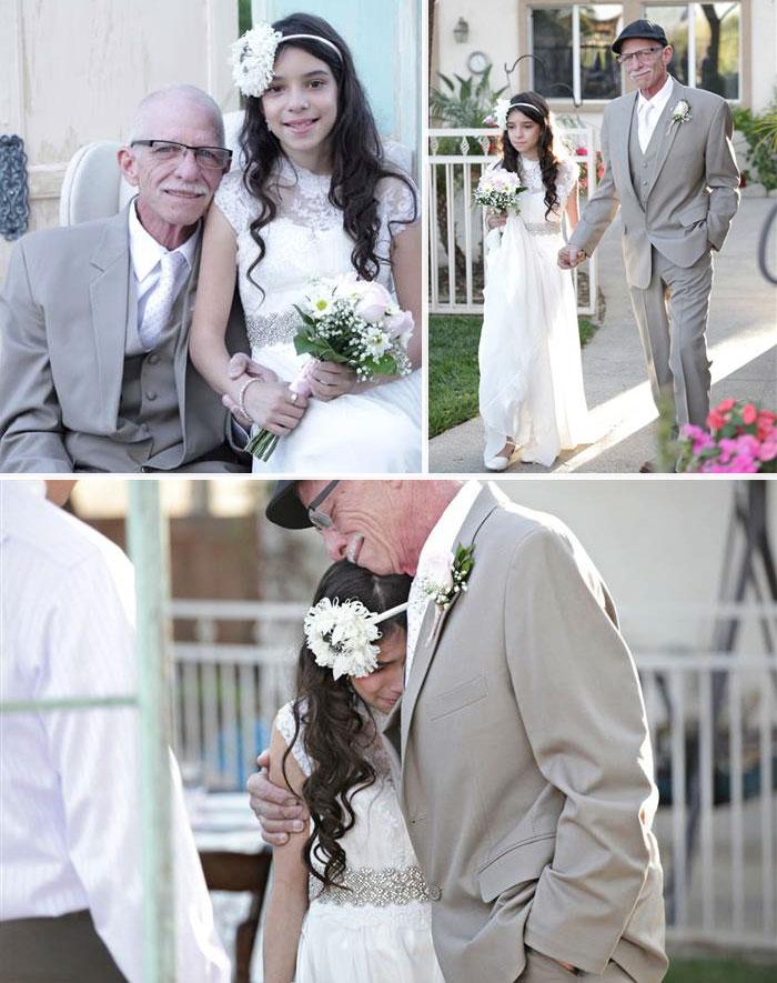 Умирающий отец отвел свою 11-летнюю дочь к «алтарю», чтобы у нее осталась память об этом моменте.