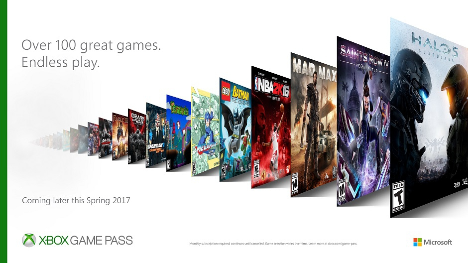 Microsoft запустит сервис поподписке Xbox Game Pass сдесятками игр