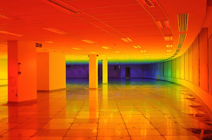 Rainbow Installation Inside Bristol Biennal