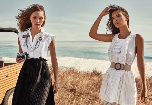 Sasha Pivovarova & Emily Ratajkowski Star in Twinset Spring Summer 2017 Ads