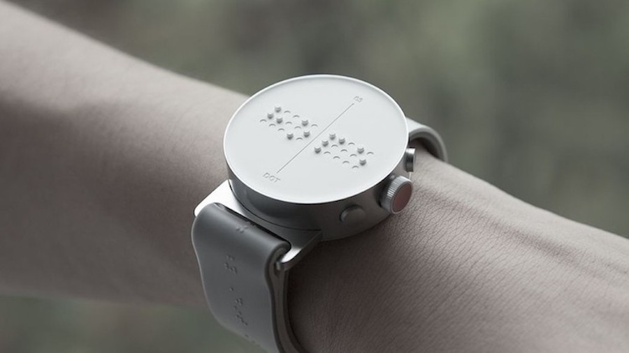 World's First Braille Smartwatch (5 pics)