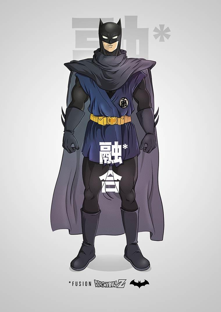Quand Batman rencontre Dragon Ball Z dans les mashups pop culture de PIM