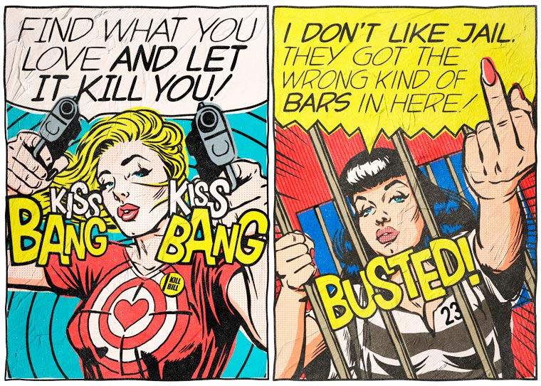 When Bukowski meets Pop Art