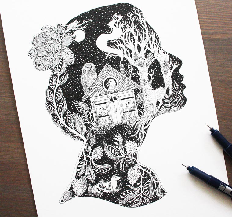 Ornamental Ink - The beautiful illustrations by Meni Chatzipanagiotou
