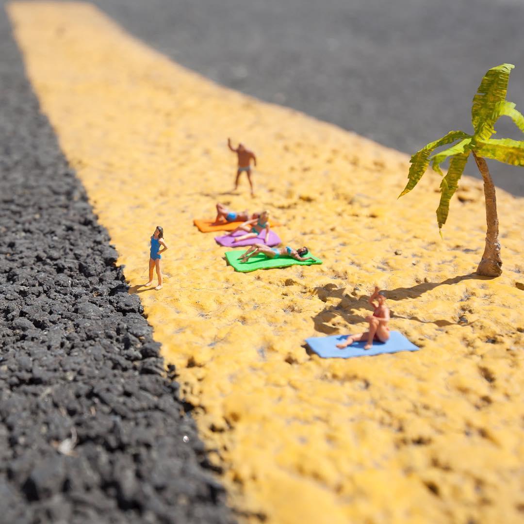 Intevencao urbana em miniatura de Slinkachu