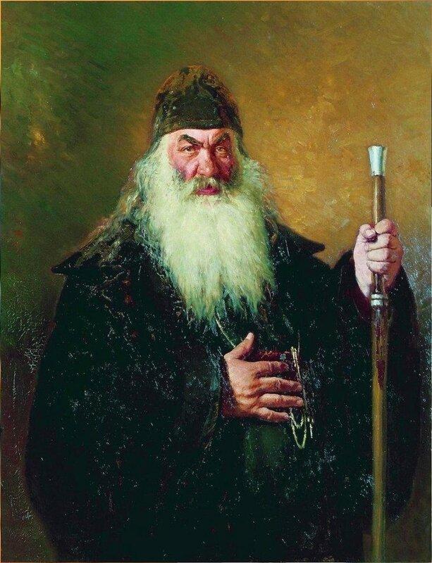 Протодиакон. 1877. Русский художник Илья Ефимович Репин .jpg