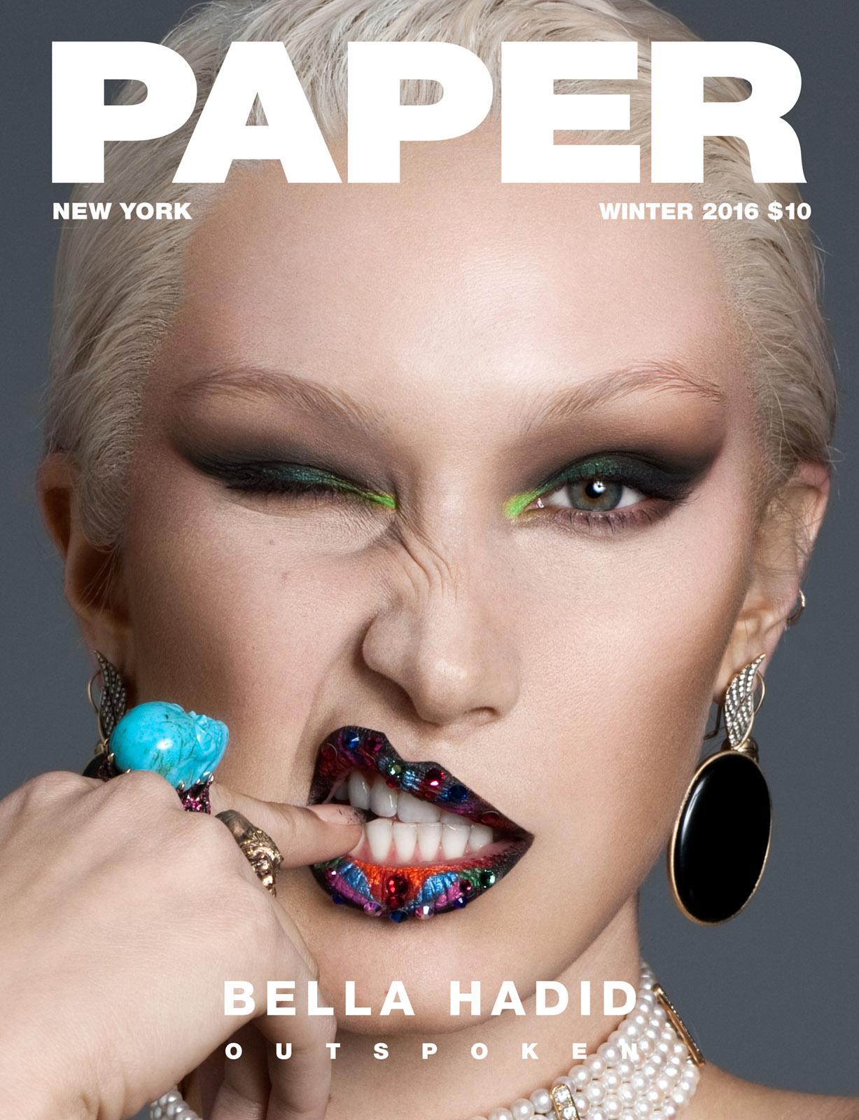 обнаженная Белла Хадид / Bella Hadid by Nicolas Moore - Paper Magazine winter 2016