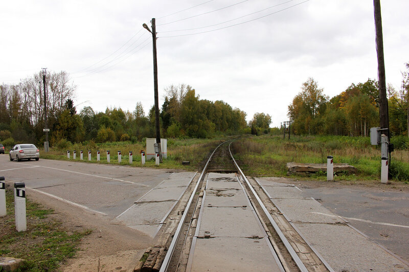Переезд на перегоне Красный холм - Остолопово
