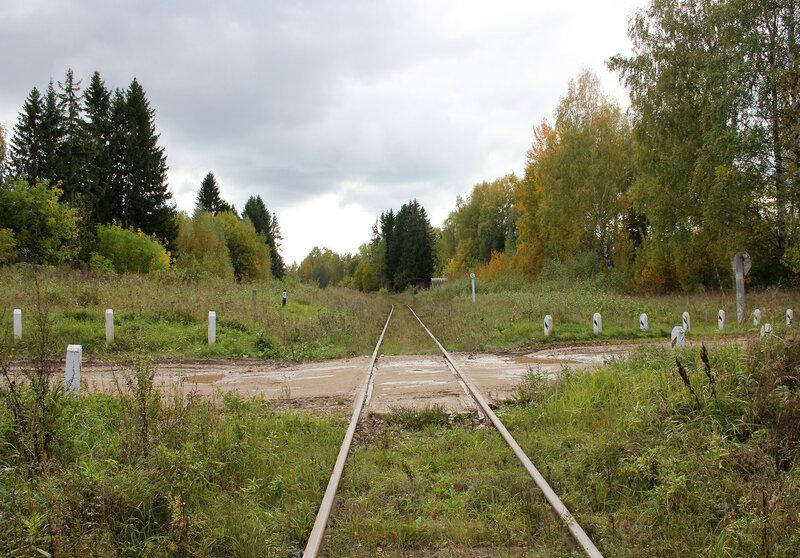 Переезд у платформы Ивановские казармы (358 км), вид на Сонково