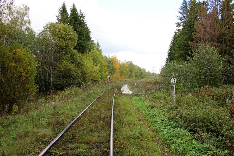 Платформа (358 км) Ивановские казармы перегона Овинище-2 - Весьегонск