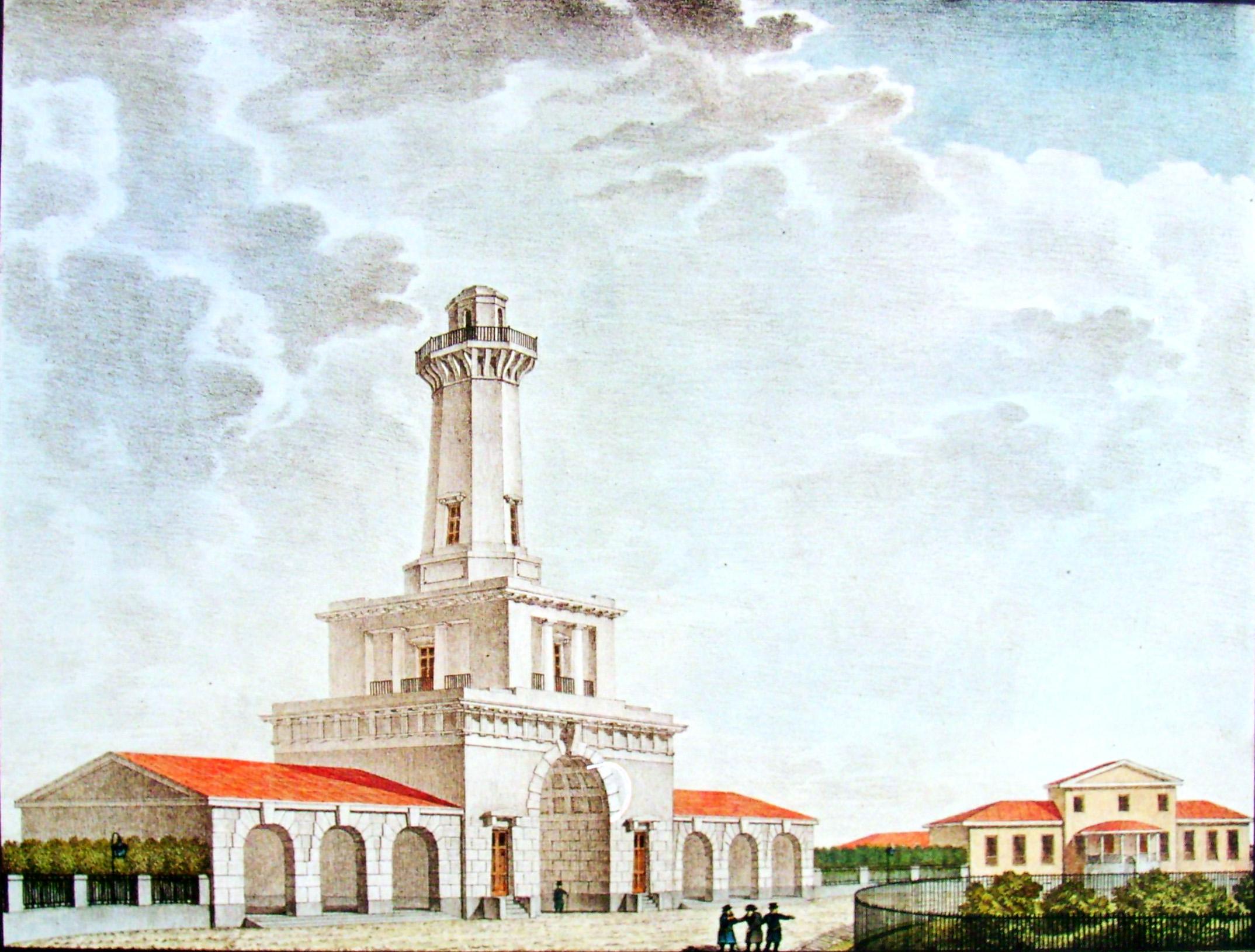32. Вид Грузинской полиции с каланчею. Рисовал И. Семенов. 1824