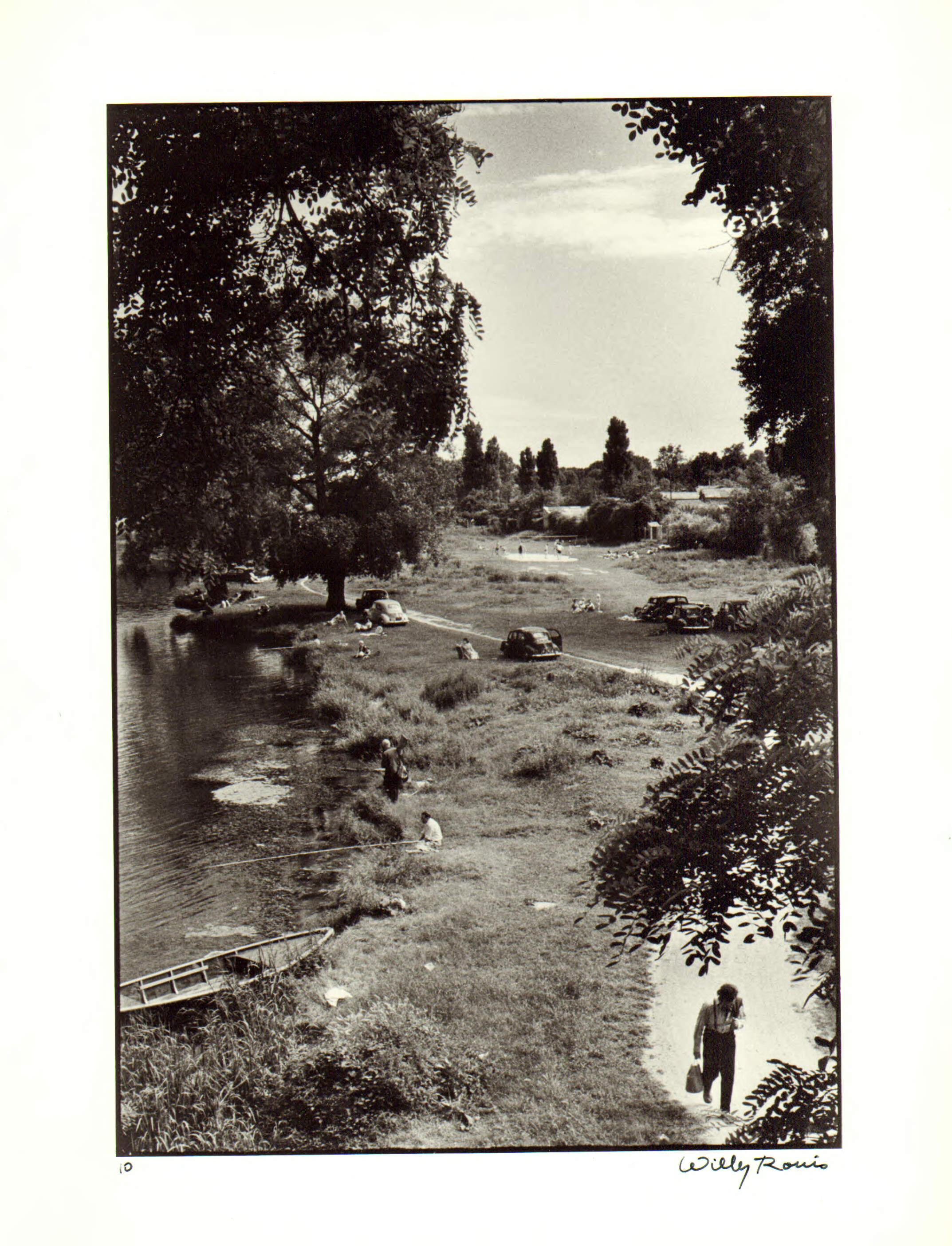 1956. Вид Марны с моста Кретей