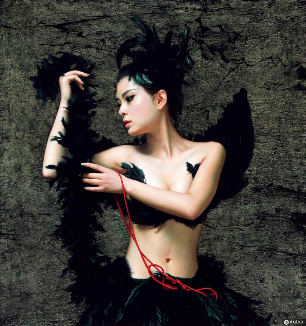 Обнаженные девушки на картинах Liu Su