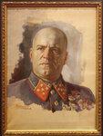 Луппов Сергей Михайлович. Портрет генерала Г.К. Жукова. 1943