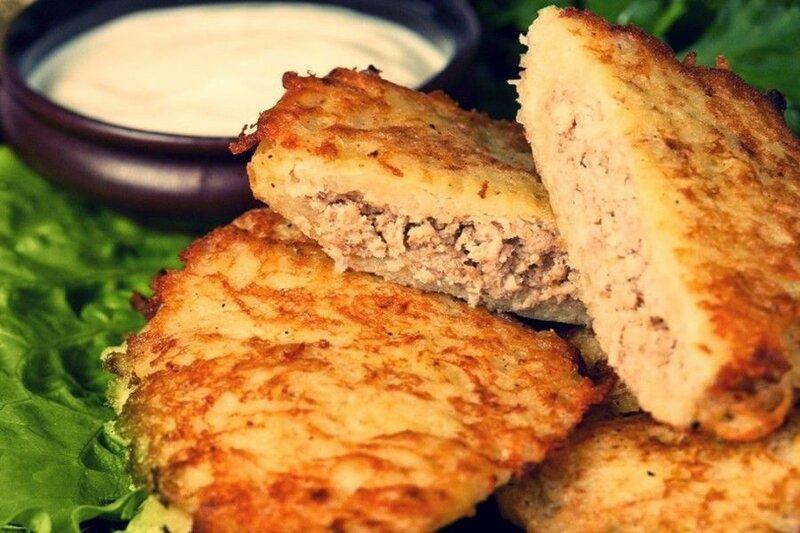 Драники с курицей   вкусное самостоятельное блюдо