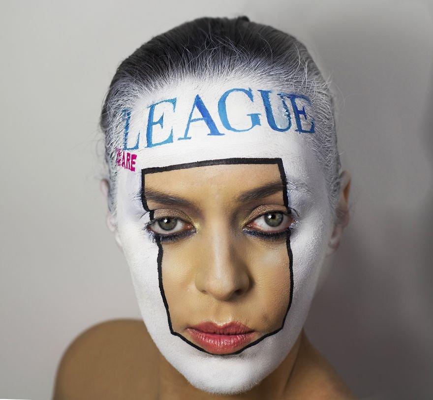 Обложки виниловых пластинок, перенесенные на лица (12 фото)