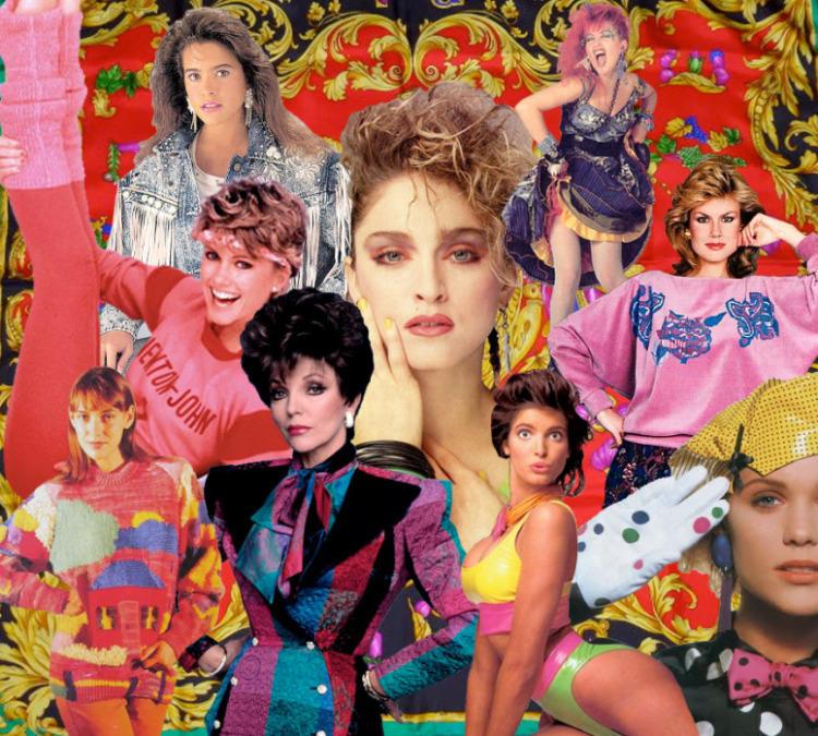 36. В моде 80-х переплелись ретрообразы, переосмысленные дизайнерами, а также, рожденные молодежными