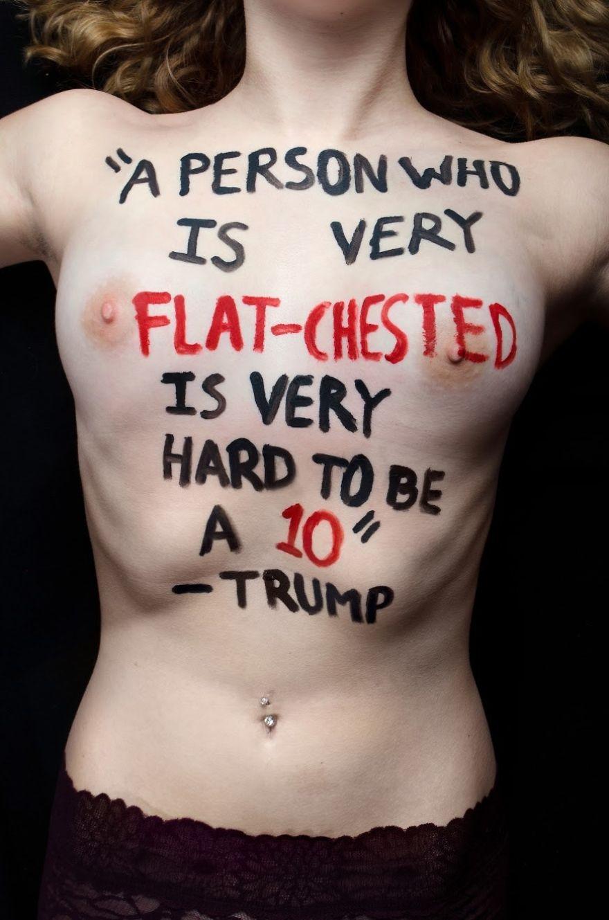 «Человеку с очень плоской грудью очень трудно выглядеть секси» — Трамп.