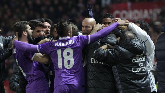 «Реал» сыграл вничью с«Севильей» ивышел в ¼ финала Кубка Испании