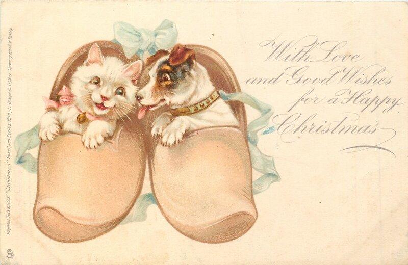 Почтовые открытки кошки