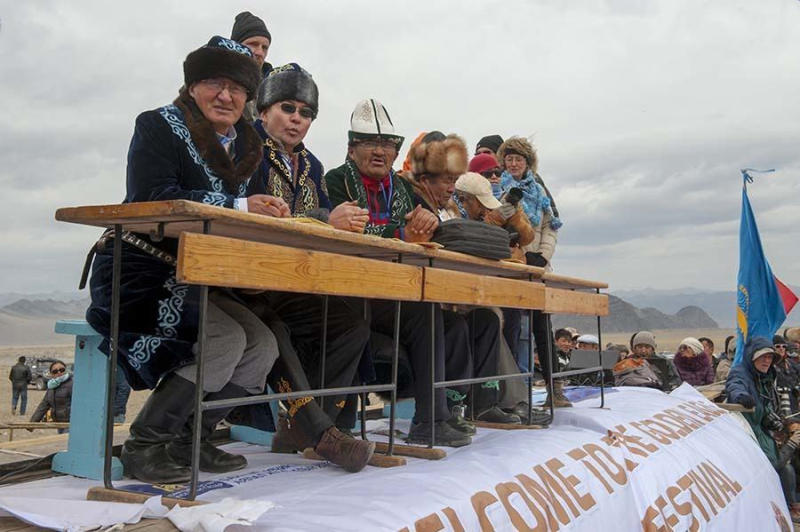 The judges of the Golden Eagle Festival.