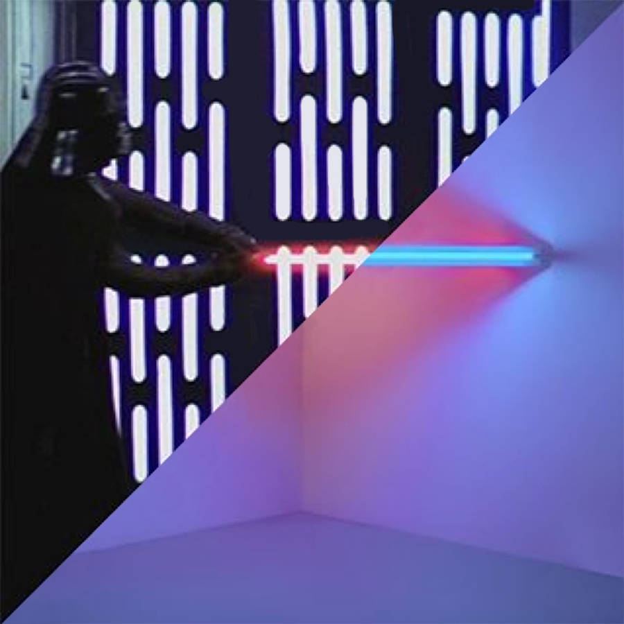 George Lucas, Star Wars: Episode IV – A New Hope, 1977 / Dan Flavin, Untitled (to Virginia Dwan), 19