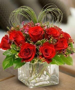 Цветочные композиции на валентинов день