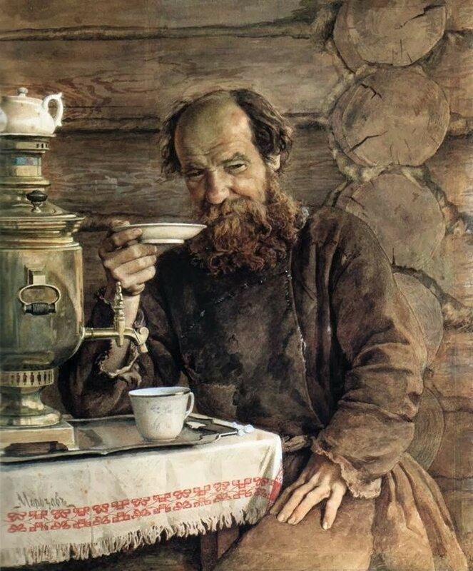 2 morozov old man, samovar tea.jpg