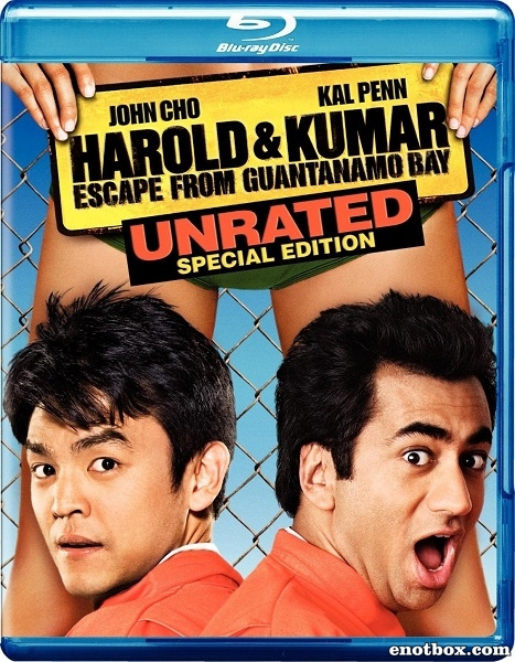 Гарольд и Кумар: Побег из Гуантанамо (Расширенная версия) / Harold & Kumar Escape from Guantanamo Bay (Unrated) (2008/BDRip/HDRip)