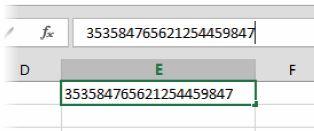 Если оставить у ячейки числовой или общий формат